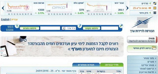 אתר הבורסה בישראל