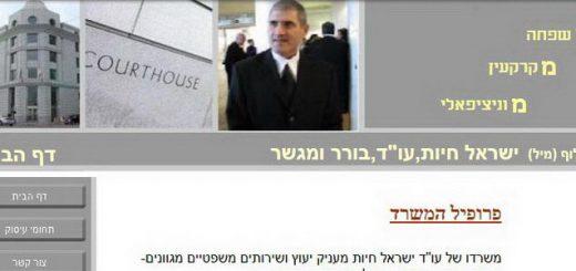 """עו""""ד ישראל חיות"""